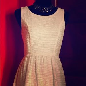 Cute girly white knee lenght dress